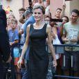 La reine Letizia d'Espagne à Malaga le 5 septembre 2014 pour une visite du Musée Picasso et l'inauguration du XIXe Forum Spain-Etats-Unis.