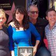 John Landgraf, Ed O'Neill, Christina Applegate, David Faustino, Leron Gubler - Katey Sagal reçoit son étoile sur le Hollywood Walk of Fame, à Los Angeles, le 9 septembre 2014 (crédit Abaca).