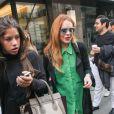 Lindsay Lohan sort du restaurant Passi à Londres, le 6 septembre 2014