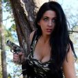 """Stéphanie, la fille de Will Hayden de l'émission """"Sons of gun"""" sur Discovery Channel - 2014"""