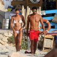 Federica Pellegrini et Filippo Magnini lors de leurs congés à Formentera dans les Baléares, le 6 septembre 2014