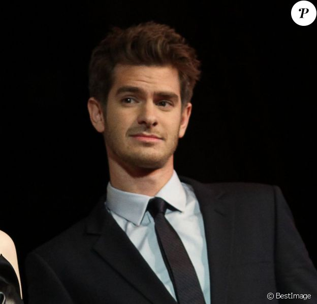"""Emma Stone et son compagnon Andrew Garfield - Avant-première du film """"The Amazing Spider-Man 2 : Le Destin d'un Héros"""" à Paris, le 11 avril 2014"""