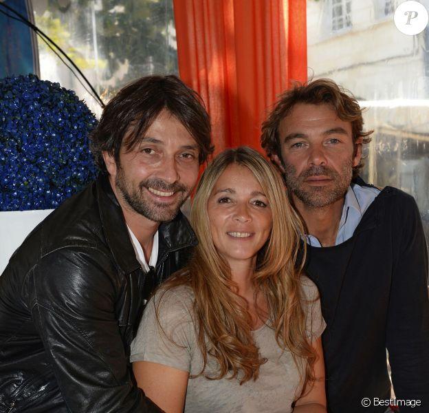 Sébastien Roch, Hélène Rollès et Patrick Puydebat au 16e Festival de la fiction TV, à La Rochelle, le vendredi 12 septembre 2014.