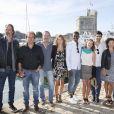 Le casting de la série Plus belle la vie, au 16e Festival de la fiction TV, à La Rochelle, le samedi 13 septembre 2014.