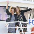 Léa Francois et Sylvie Fleep, au 16e Festival de la fiction TV, à La Rochelle, le vendredi 12 septembre 2014.