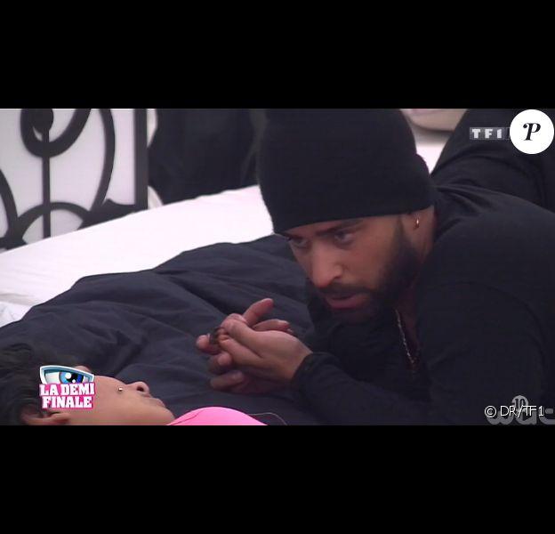 Vincent et Jessica dans la quotidienne de Secret Story 8, le 18 septembre 2014, sur TF1