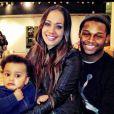 Jonathan Dwyer avec son épouse et son fils, photo issue de son compte Twitter et publiée le 14 février 2014