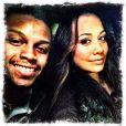 Jonathan Dwyer et son épouse, photo issue de son compte Twitter et publiée le 14 février 2014