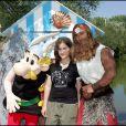 Ilona Mitrecey lors de l'inauguration de l'attraction Les vikings débarquent au Parc Astérix, à Plailly le 17 juin 2006