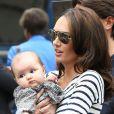 Tamara Ecclestone, son mari Jay Rutland et leur adorable fillette Sophia à Paris le 20 septembre 2014