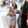 Tamara Ecclestone et sa fille Sophia à Paris le 20 septembre 2014