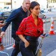 Kim Kardashian de retour à l'hôtel Royal Monceau à Paris. Le 25 septembre 2014.