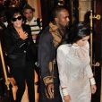 Kris Jenner, Kayne West and Kim Kardashian attending Balmain's Spring-Summer 2015 Ready-To-Wear collection show held at the Palais de Tokyo in Paris, France, on September 25, 2014. Photo by Alban Wyters/ABACAPRESS.COM25/09/2014 - Paris