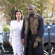Kim Kardashian et Kanye West arrivent au restaurant L'Avenue après avoir assisté au défilé Balmain. Paris, le 25 septembre 2014.