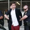 """""""Vitalii Sediuk arrêté et menotté après avoir agressé Brad Pitt lors de la première de Malefique à Los Angeles le 28 mai 2014."""""""