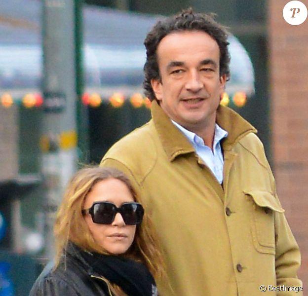 Olivier Sarkozy et sa fiancée Mary Kate Olsen à New York le 18 novembre 2012