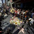 Hommages à Robin Williams sur son étoile du Walk of Fame à Los Angeles le 12 août 2014