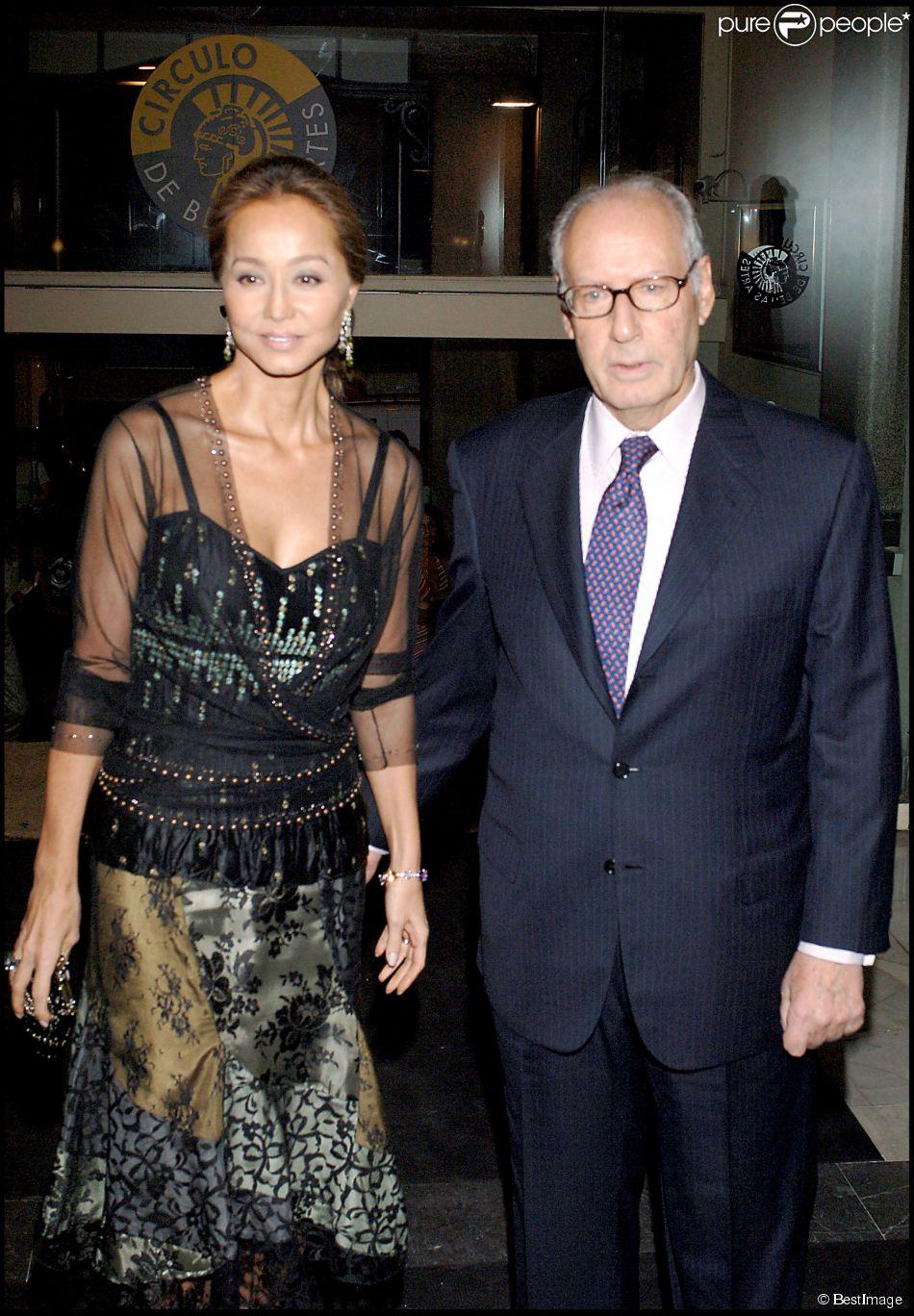 Isabel Preysler (maman d'Enrique Iglesias) et son mari Miguel Boyer à Madrid le 8 juin 2006.