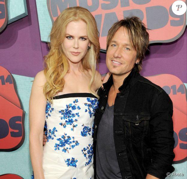 Nicole Kidman et son mari Keith Urban aux CMT Music Awards à Nashville, le 4 juin 2014