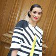 """Camélia Jordana - Arrivées au défilé de mode """"Jean-Charles de Castelbajac"""", collection prêt-à-porter printemps-été 2015 au Garage Lubeck à Paris."""