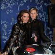 Alessandra Lanvin et Alexandra Richards lors de l'ouverture de la boutique Aperlaï au 28, rue du Mont-Tharbor, dans le 1er arrondissement. Paris, le 30 septembre 2014.