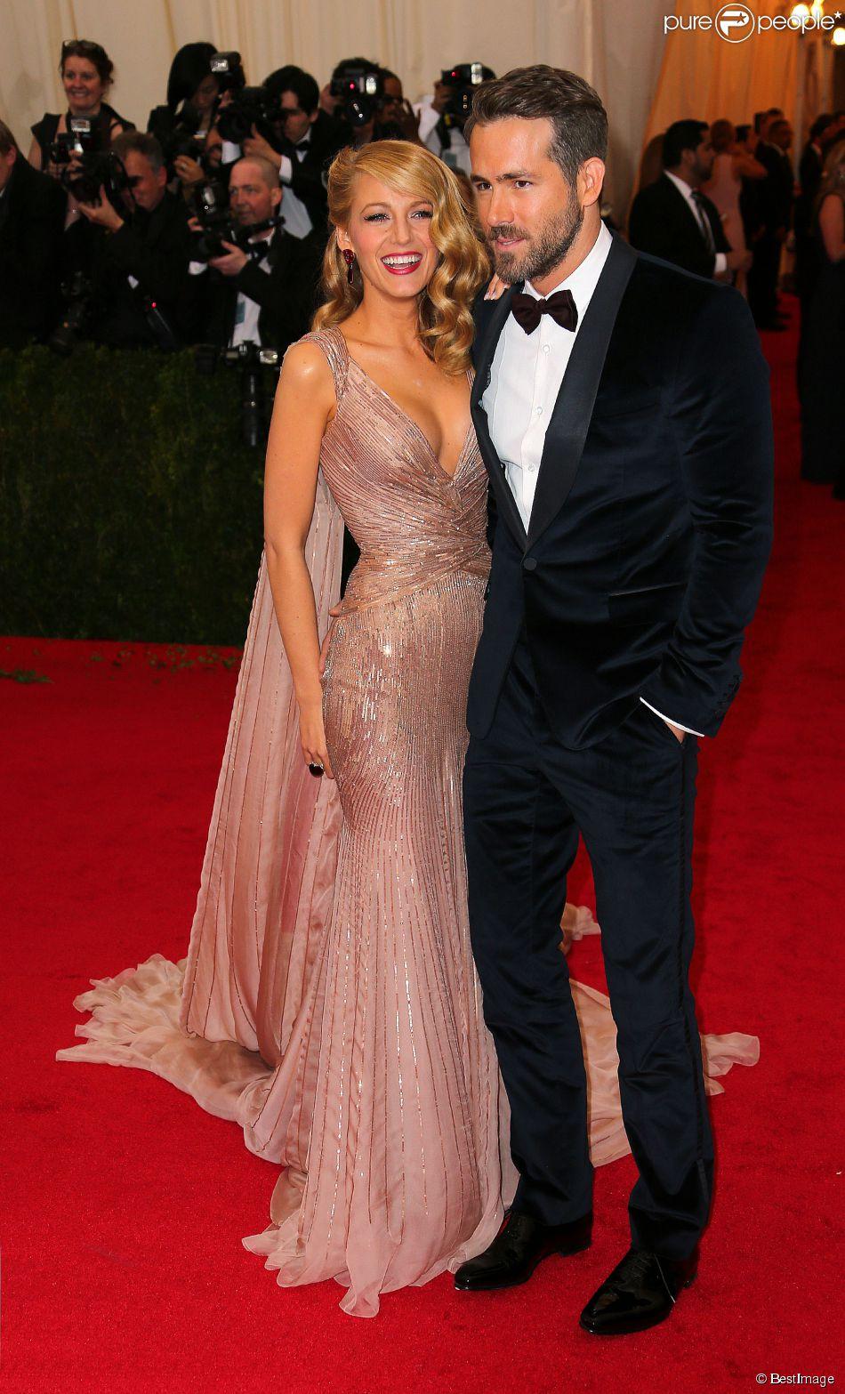 Blake Lively et Ryan Reynolds à la s oirée du Met Ball à New York, le 5 mai 2014.