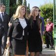 Laura Boyer et Tamara Falco - Obsèques de l'ancien ministre de l'économie espagnol Miguel Boyer, le mari d'Isabel Preysler, à Madrid le 30 septembre 2014