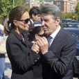 Isabel Preysler - Obsèques de l'ancien ministre de l'économie espagnol Miguel Boyer, le mari d'Isabel Preysler, à Madrid le 30 septembre 2014