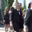 Laura Boyer - Obsèques de l'ancien ministre de l'économie espagnol Miguel Boyer, le mari d'Isabel Preysler, à Madrid le 30 septembre 2014