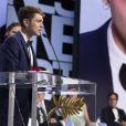 """Xavier Dolan (Prix du jury pour """"Mommy"""") - Cérémonie de clôture du 67 ème Festival du film de Cannes le 24 mai 2014."""