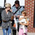 Michelle Williams à New York avec sa fille Matilda, le 6 octobre 2014.