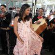 """Zoe Saldana (enceinte) - Première du film """"The Book of Life"""" à Los Angeles le 12 octobre 2014."""