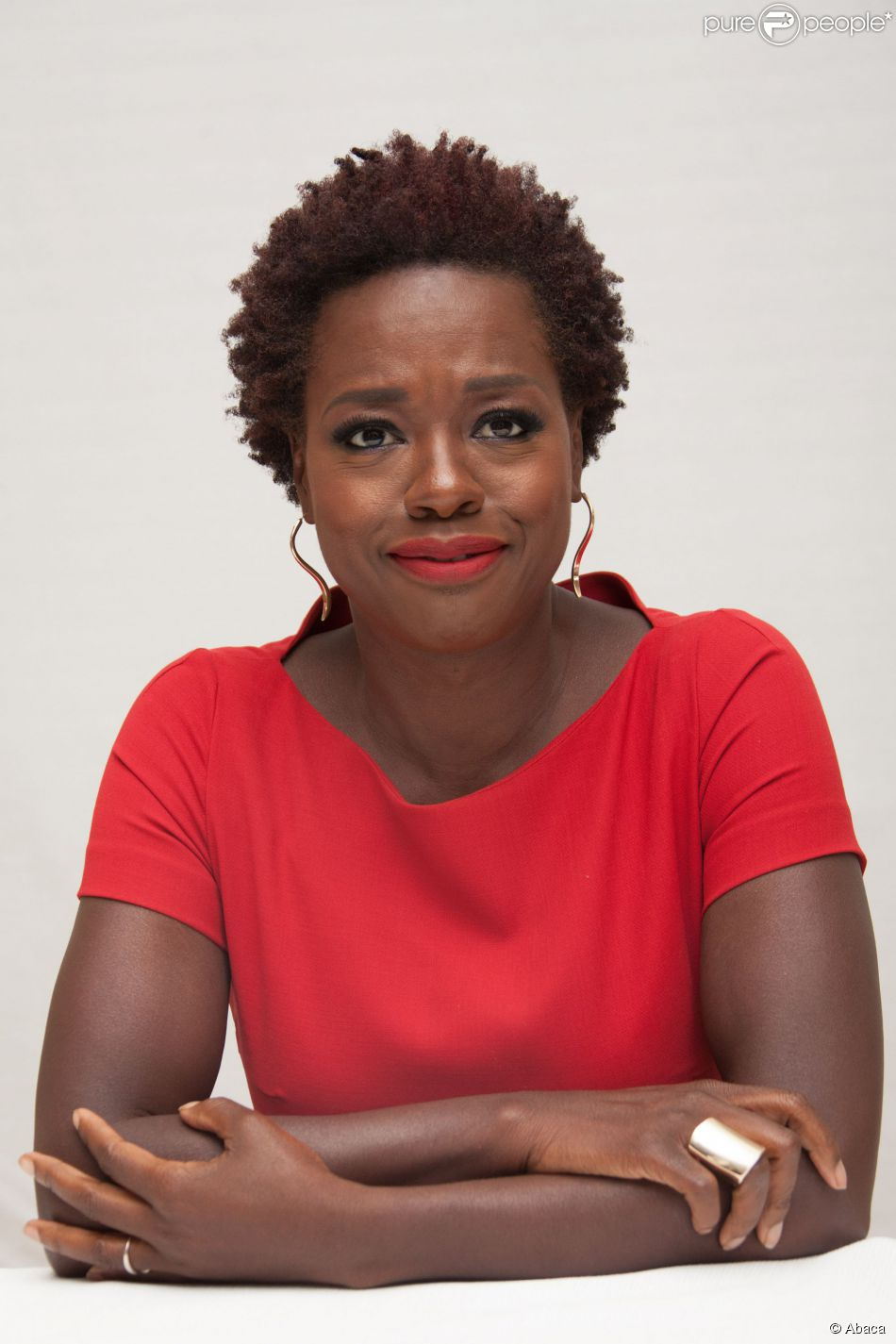 Viola Davis lors de la conférence de presse de la série How to Get Away with Murder à Los Angeles le 2 octobre 2014
