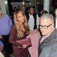 Beyoncé Knowles (porte deux bagues Messika), son mari le rappeur Jay-Z et leur fille Blue Ivy arrivent à Londres, le 14 octobre 2014 en Eurostar en provenance de Paris.