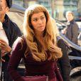 Beyoncé Knowles, Jay-Z et leur fille Blue Ivy Carter arrivent Gare du Nord à Paris pour prendre un train. Le 14 octobre 2014