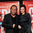 """Le réalisateur Tony Gatlif et Céline Sallette - Avant-première du film """"Geronimo"""" à l'UGC Ciné Cité des Halles à Paris, le 13 octobre 2014."""