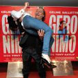 """Le réalisateur Tony Gatlif et Nailia Harzoune - Avant-première du film """"Geronimo"""" à l'UGC Ciné Cité des Halles à Paris, le 13 octobre 2014."""