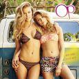 Nina Agdal et Cailin Russo posent pour la campagne de la collection printemps-été de la marque de maillots de bain OP Ocean Pacific