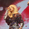Rita Ora en concert pour HP Connected à Moscou. Le 27 octobre 2014.