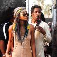 Chanel Iman et ASAP Rocky à Coachella en avril 2014