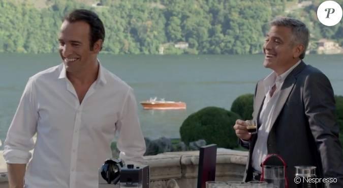 George clooney et jean dujardin blagueurs dans la - Jean dujardin et george clooney ...