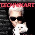 Karl Lagerfeld en couverture de Technikart