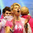 """""""Frigide Barjot lors de la manifestation des opposants au mariage et à l'adoption pour les homosexuels à Paris le 13 janvier 2013."""""""
