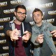 Cyprien lors de la soirée de lancement de Call of Duty : Advances Warfare, le 3 novembre 2014 à Paris