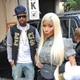 Nicki Minaj et son ex Safaree Samuels à New York, le 17 septembre 2012.