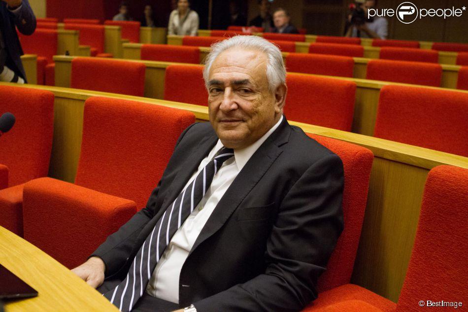 Dominique Strauss-Kahn au Sénat à Paris le 26 juin 2013.