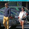 Rachel Bilson, très enceinte, et son compagnon Hayden Christensen sont allés prendre le petit déjeuner à Los Angeles, le 7 octobre 2014.