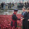 David Cameron et sa femme Samantha à la Tour de Londres, le 8 novembre 2014