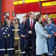 Le prince William et Kate Middleton ont visité la raffinerie de Valero Pembroke au Pays de Galles, le 8 novembre 2014.