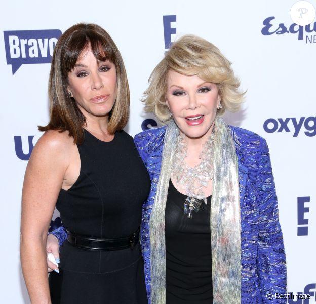 """Joan Rivers et Melissa Rivers lors de la soirée """"NBC Universal Cable Entertainment Upfronts"""" à New York, le 15 mai 2014."""